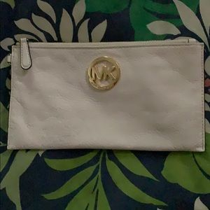 Authentic MK white clutch
